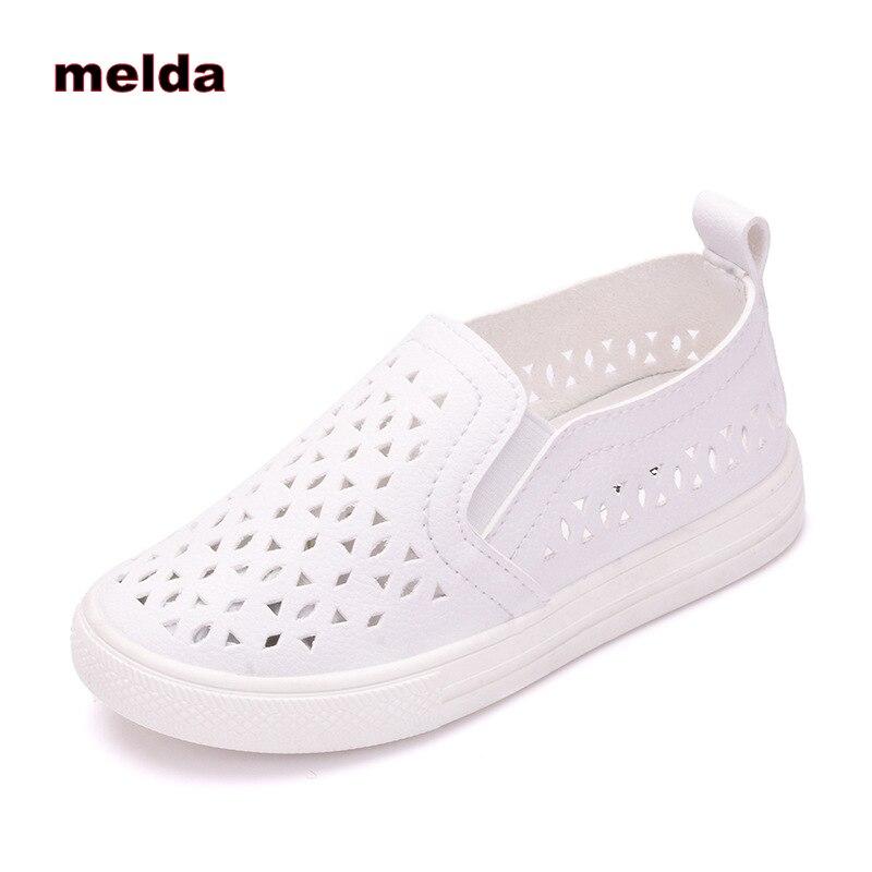 a094cd7cf Crianças novas Meninas Ocos Slip-On Sapatos Crianças Moda Casual Luz  Esporte Sapatas Dos Miúdos