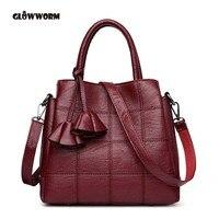 GLOWWORM Brand women Genuine leather bags Women Real leather Handbags Large Shoulder bags Designer Vintage bag