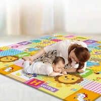 Tapis de jeu bébé 200*178*1CM deux côtés Tapete infantile enfants tapis de jeu mignon dessin animé ramper tapis imperméable Eva forme tapis de pique-nique