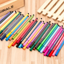 Caneta de desenho de crianças conjunto de caneta de aguarela de papelaria pode ser lápis de lavagem de cor de água marcador de manga escova caneta