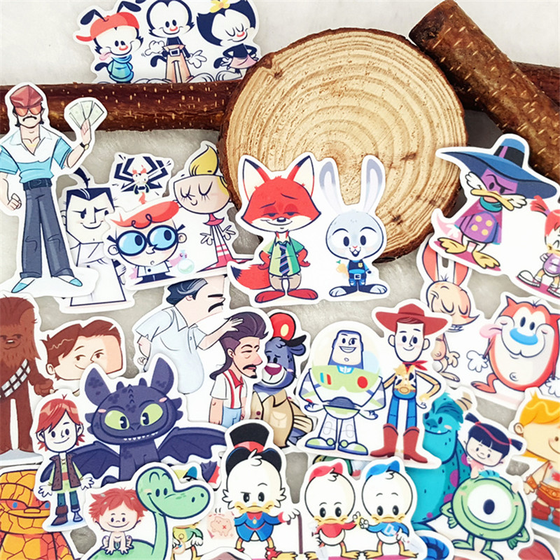 32 Pcs Artoon Character Stickers For Luggage Laptop Skateboard Bicycle Motorcycle Styling Decals Fashion Cool Waterproof Sticker