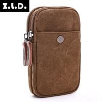 New Thick Leisure Portable Canvas Bag Zero Wallet Cute Bag Clutch Bag