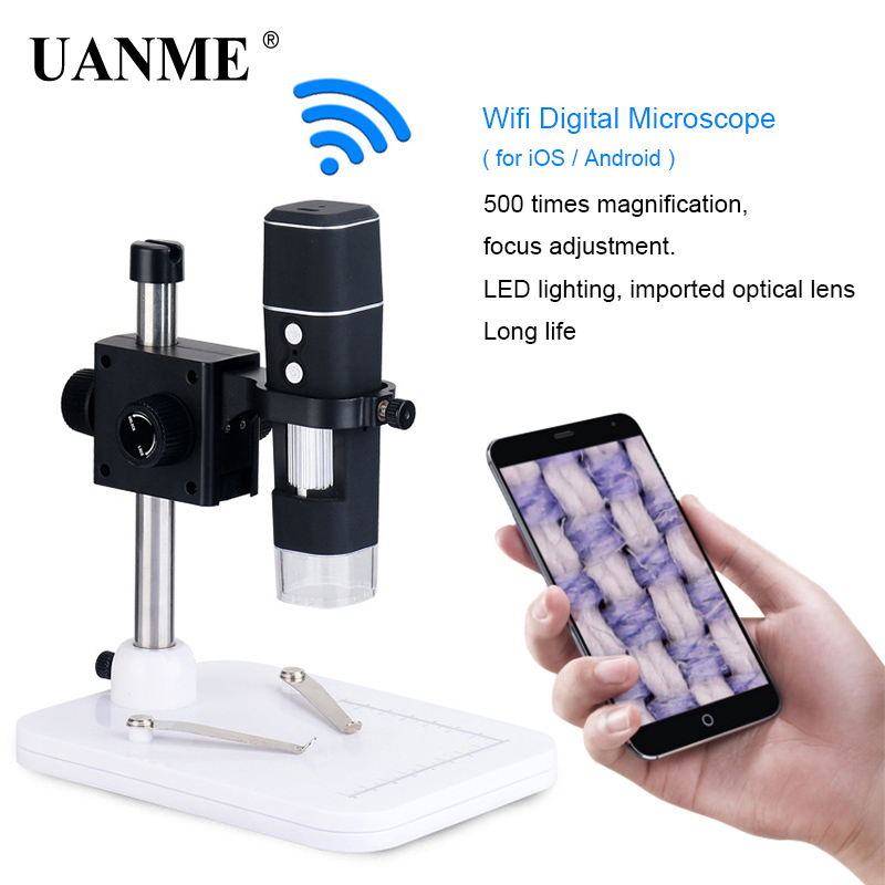 UANME 10-500X HD WIFI Digital Microscope For IOS/Android Support Zoom Camera Magnifier Digital Video MicroscopeUANME 10-500X HD WIFI Digital Microscope For IOS/Android Support Zoom Camera Magnifier Digital Video Microscope