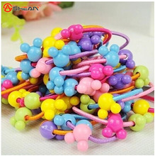 TS 20 pcs High Quality Carton Round Ball Kids Elastic Hair bands Elastic Hair Tie Children Rubber Hair Band