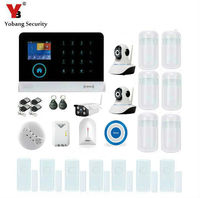 YobangSecurity Burglar Alarm System Security Wireless Wifi GSM Autodial Call Home Intruder Alarm System With Outdoor