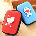 Rectangle Kitty Bear Cartoon Earphones Case Zipper Headphone Bag Box Cable Hold Case Earbud Card Carrying Hard Pouch Storage bag