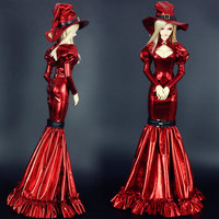Accept custom NEW Retro Classics Red Witch Long skirt 1/3 1/4 BJD SD SD13 SD16 SDGR Girl MSD IP Doll Clothes