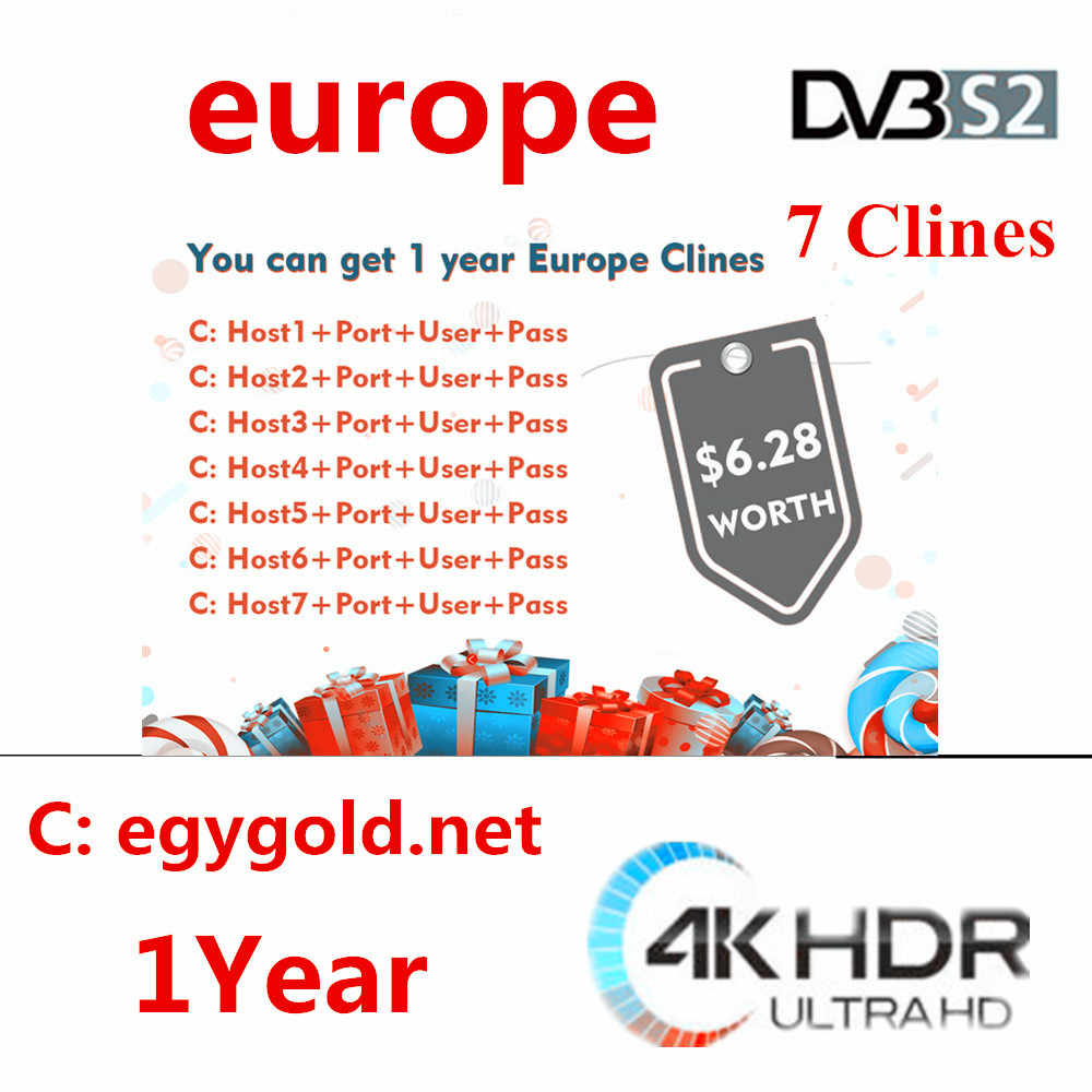 2019 новый год Full HD Cccams 7 lineas 1 год Astra Hispasat DVB-S/S2 decodificador Спутниковое servidor