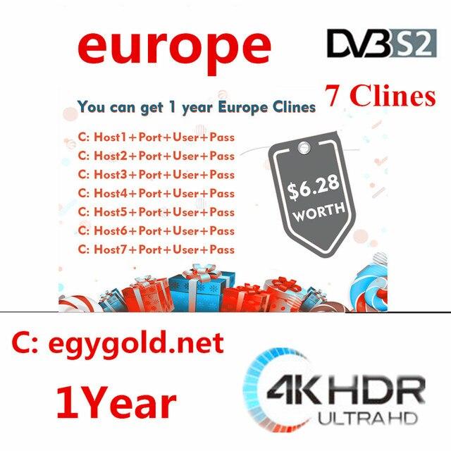 2019 NEW YEAR Full HD Cccams 7 lineas 1 YEAR Astra Hispasat DVB-S/S2 decodificador satelite servidor