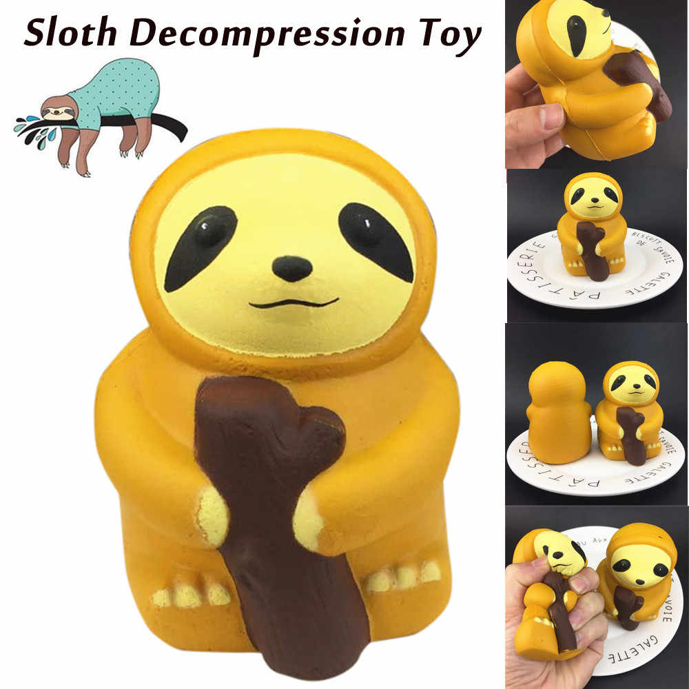 800e5d8ea414 1PC Cute Squishy Sloth Decompression Squeeze Toys for Kid Squishies Slow  Rising Jumbo Kawaii Animals Toys