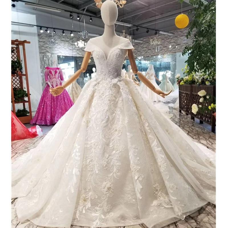 H&S BRIDAL Ball Gown robe de mariee wedding dress 2019 Elegant crystals beadings Appliques bridal gown Vestido de Novia
