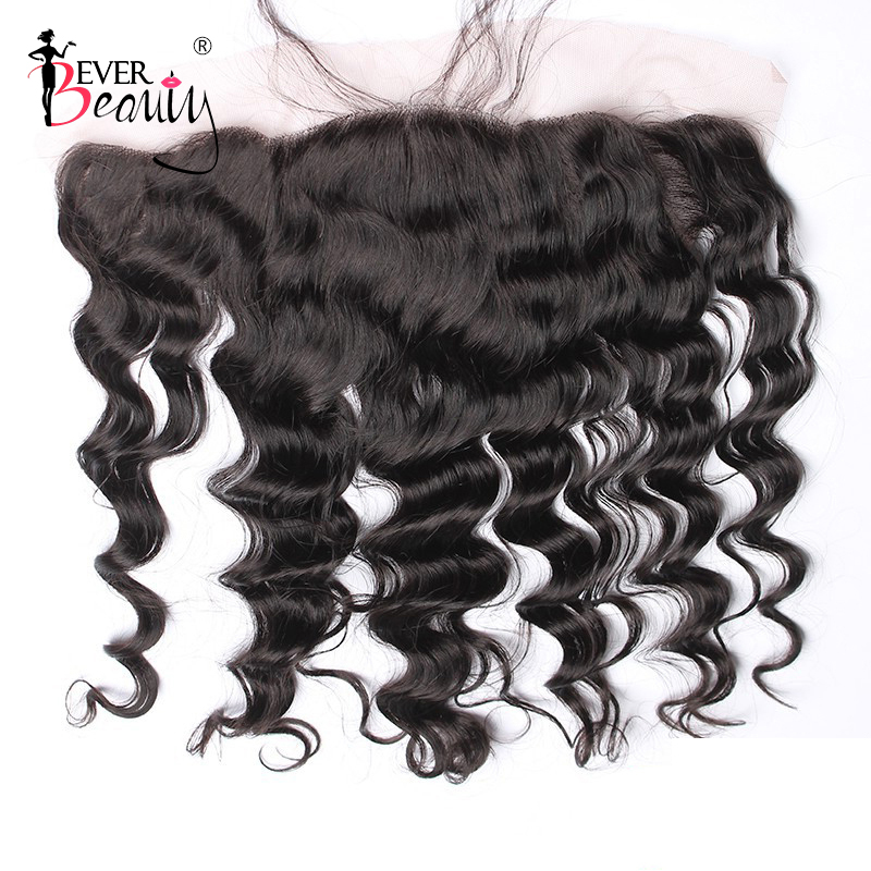 13x4 Lace Frontal Closure Pre Plucked With Baby Hair Ear to Ear Remy 100% Human Hair Brazilian Loose Wave Free Part Ever Beuaty
