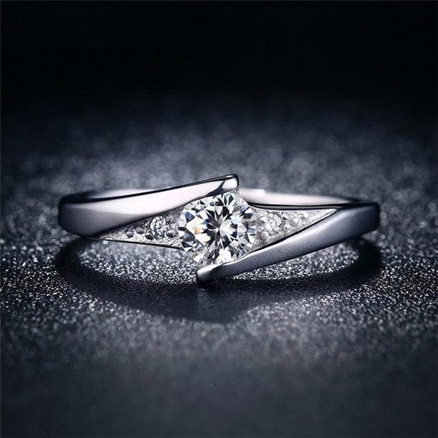 Hhyde new wedding ring for women classic white gold color cz nice hhyde new wedding ring for women classic white gold color cz nice finger rings junglespirit Images