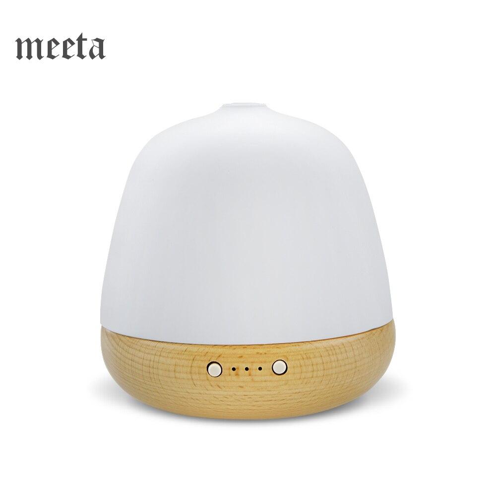 Aromathérapie Ultrasons diffuseur de senteur En Céramique En Bois Véritable Air Humidificateur huile essentielle Diffuseur Avec Lumière de Nuit brumisateur 180 ml