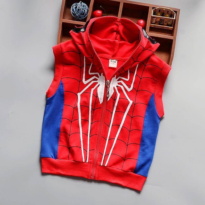 9b25b07fa8f 2018 New Kids Cotton Clothes Children Boys Spring Autumn Cartoon Spiderman  3pcs Clothing Set Hoody Vest. sku  32706407083