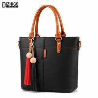 DIZHIGE Brand Fashion Tassel Shoulder Bag High Quality PU Leather Bags Women Handbags Designer Ladies Hand