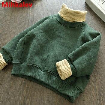 Mihkalev Fashin לעבות ילדים נים לילדה חורף בגדי 2018 ילדי צמר בגדי תלבושות תינוק הלבשה עליונה