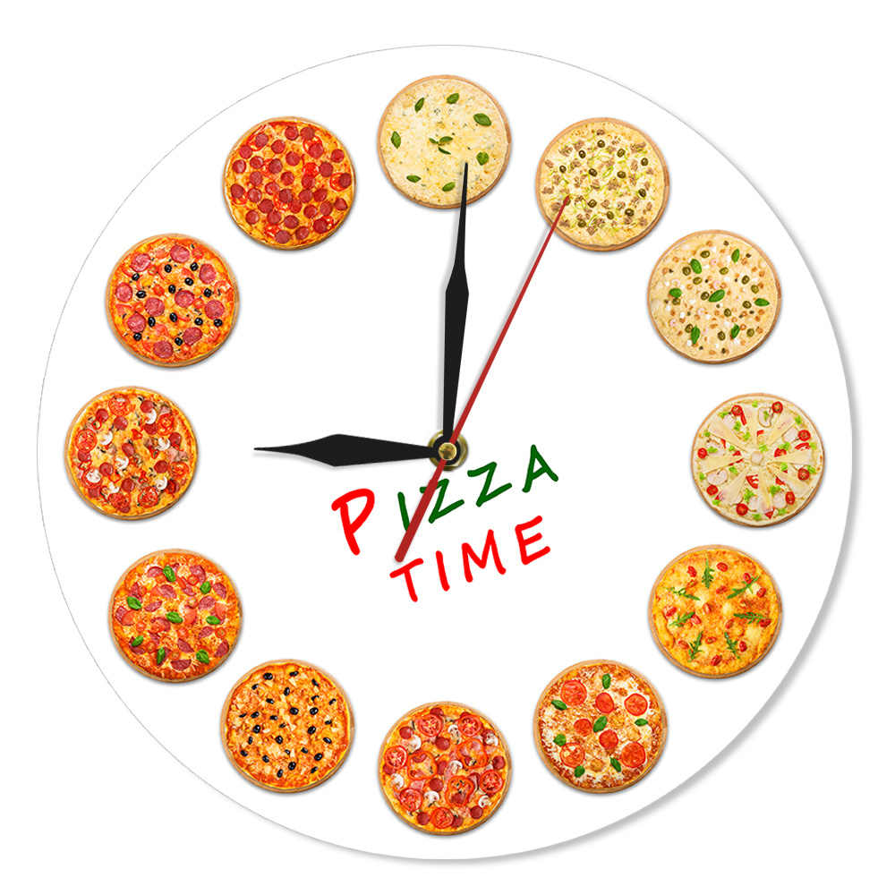 Different Tastes Pizza Time Modern Wall Clock Italy Dreams Kitchen Home Decor Neapolitan Style Italian Food Art Gastronome Gifts