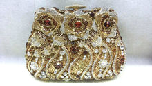 Free shipping !! A15-46,gold color fashion top crystal stones ring clutches bags for ladies nice party bag