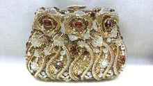 Freies verschiffen!! A15-46, gold farbe mode top kristallsteinen ring handtaschen für damen nette parteibeutel