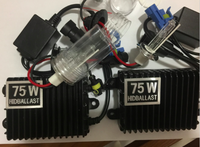 Kit HID Xenon 75 W Lastro Rápido Brilhante Lâmpada Farol Do Carro LUZ CN lâmpadas Auto Farol H1 H3 H7 H11 9012 9005 9006 d2s d2h 880