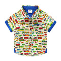 Bebê Do Carro Do algodão-shirt de manga curta 2016 roupas de verão novas crianças Coreano menino Imprimiram a camisa
