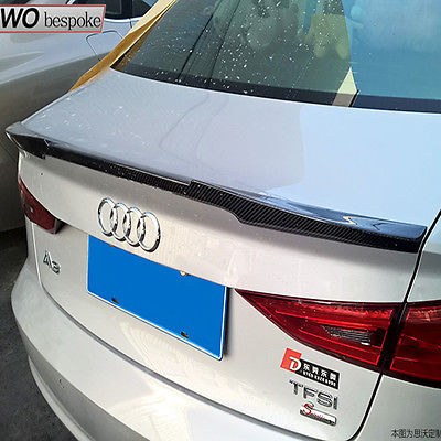 A3 S3 S Line Carbon Fiber Car Rear Trunk Spoiler Lip Wing for Audi A3 S3 Sline 8VS Saloon Vario Style 2014-2016