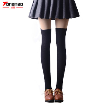1 Pair 4 Solid Colors Fashion Sexy Warm Thigh High Over the Knee Socks Long Cotton Stockings For Girls Ladies Women