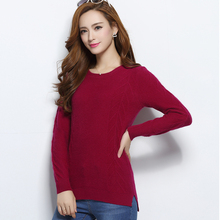Women's New Autumn Winter Cashmere Wool Sweater and Pullovers O Neck Long Sleeve Knitted Wheat Lady Wear