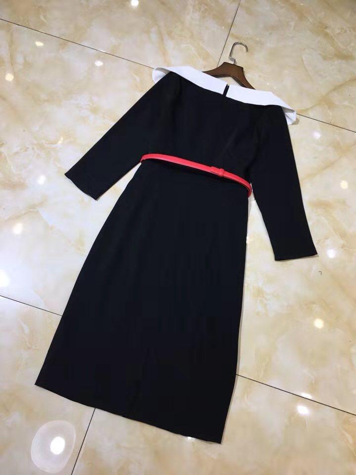 2019 De Qualité Mode Marque Nouvelle Européenne Style Ah02810 Robe Luxe Supérieure Partie Célèbre Femmes Design Printemps 4AL3R5j