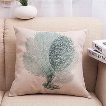 Fashion  Elegant Style 45CM*45CM Decorative Sea Animal Cushion Cover Linen Cotton Fabric Throw Pillow Case On Sofa Home Decor