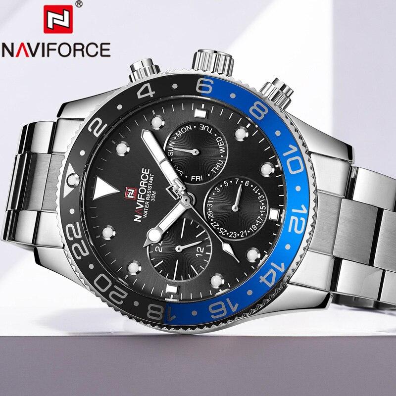 Relogio Masculino NAVIFORCE Men Watch Top Brand Luxury Sport Waterproof Military Wristwatch Leather Quartz Male Clock