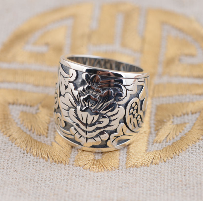 цена на Silver Ring S925 wholesale Silver Antique retro style female fashion style gift