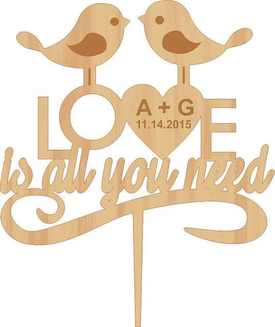 Online Shop Love Bird Cake Topper Wedding Cake Topper Love Is All ...