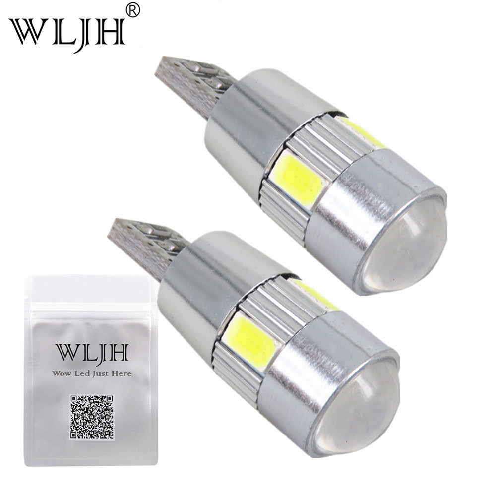 WLJH 2x Canbus Car LED T10 W5W No Error 5630 Chips For VW Golf 5 6 Polo Jetta Bora Passat 3C CC B7 Tiguan Eos AUDI BMW Benz joyous vw 8 car dvd player w radio gps analog tv bt canbus for polo jetta tiguan turan passat