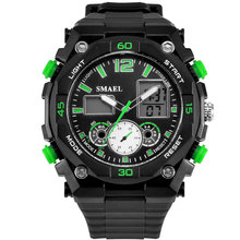 2016 New SMAEL Brand Watches LED Digital Wristwatch Men Casual Watch Dual Time Military Watch Quartz Clock Best Men Gift  WS1363