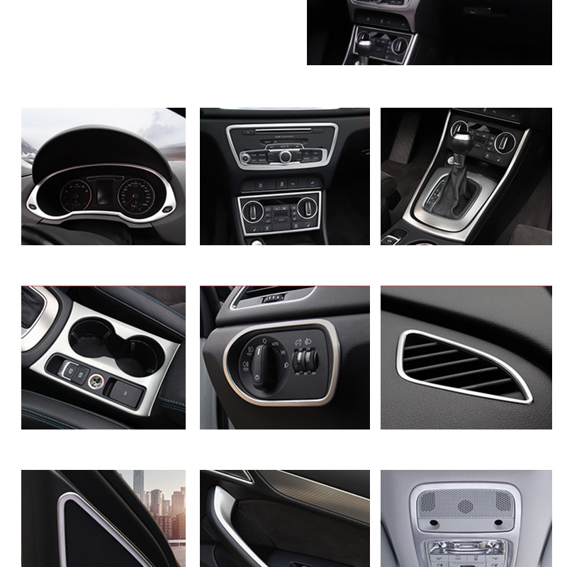 Car Steel Rear Air Condition Frame Vents Cover trim For Audi A3 8V 2013-2018