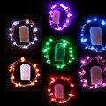 Alimentado Por bateria 10 20 Fada Luz Led String 1 M 2 M de Prata Fio de cobre Mini Lâmpada Para Festa de Casamento Do Feriado Do Natal 8 Cores
