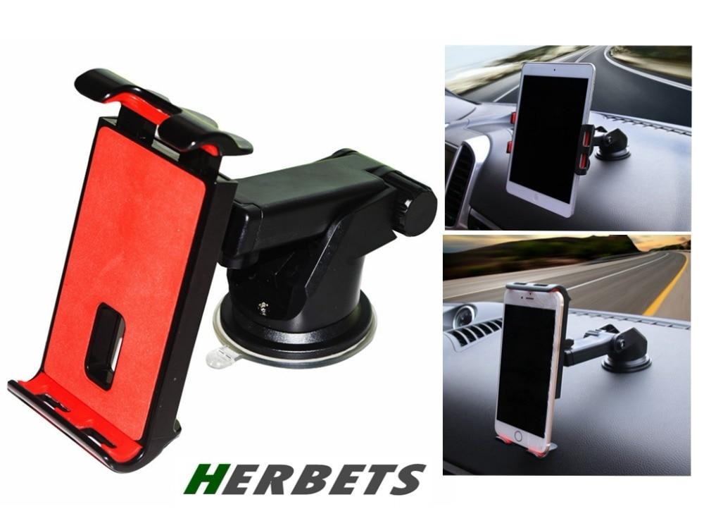 HERBETS Universal Car Mobile Phone mini pad tablet GPS Windscreen Dashboard Holder Mount Cradle Stand