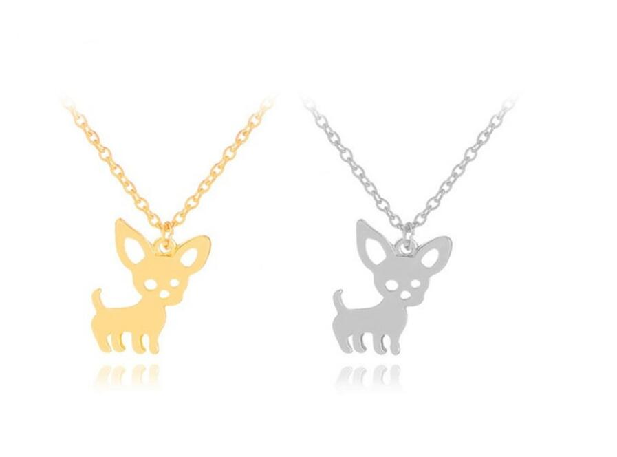 Cute Cat and Dog Necklace Chihuahua Necklace Copper Chain Clavicle Animal Deer NecklaceCute Cat and Dog Necklace Chihuahua Necklace Copper Chain Clavicle Animal Deer Necklace