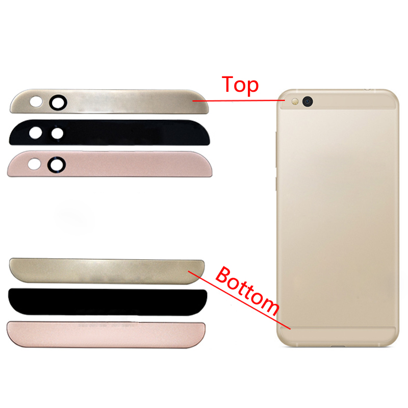 1PCS For Xiaomi Mi5C Mi 5C Rear Back Battery Cover Glass Lens Top Cover + Bottom Glass Cover Repair Parts