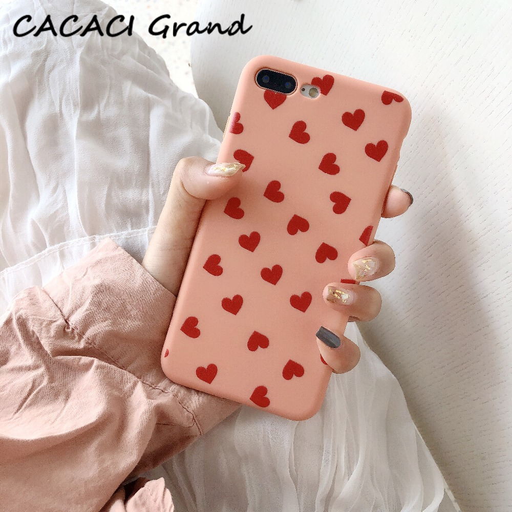 Cute Love Heart Phone Cases For iPhone 6 6s 7 8 X XS max XR Case Soft TPU Silicone Case Back Cover For iPhone 6 6s 7 8 Plus Case