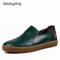 Mejor Mocasines de cuero genuino de alta calidad para hombre, zapatos casuales deslizantes para hombre, zapatos de conducción de marca de lujo para hombre, zapatos planos sólidos para hombre