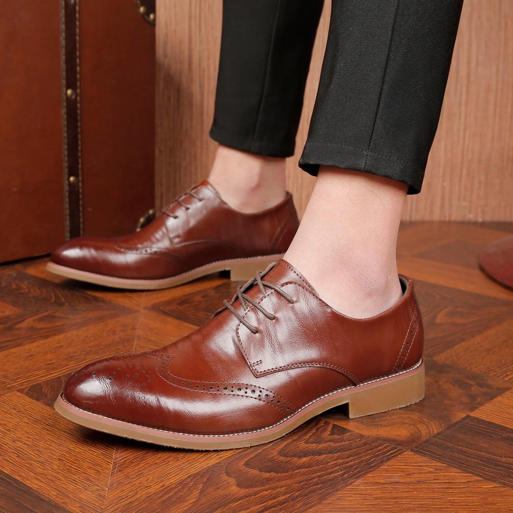 43cda3795 Clássico Couro Vestido Mp5893 Vaca Casamento Dos 2 Black brown Elegante Luxo  Festa Genuíno De Homens Sapatos Designer BUAxnzqzF