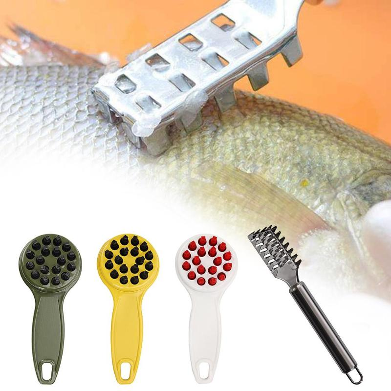 Fish Skin Scraping Fish Scales Brosse râpes rapide retirer cuisine Gadgets