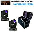 Flight Case 2IN1 Packing with 2XLOT 230W 7R Sharpy Beam Moving Head Light / Disco Studio Theatre Stage Moving Heads 16 Prism