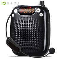 SHIDU UHF Mini Audio Lautsprecher Drahtlose Tragbare Verstärker Stimme USB Lautsprecher Für Lehrer Tourrist Guide Yoga Instruktoren S611