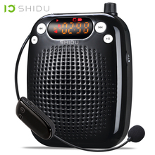 SHIDU UHF Mini Audio Speaker Wireless Portable Voice Amplifier USB Lautsprecher For Teacher Tourrist Guide Yoga Instructors S611 shidu ultra wireless portable uhf mini audio speaker usb lautsprecher voice amplifier for teachers tourrist yoga instructor s615