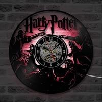 Home Decoration Quartz Wall Clocks Modern Design Harry Potter Movie Theme Scene Vinyl Record Wall Clock Fashion