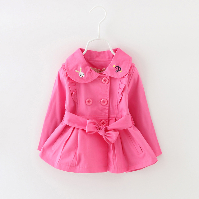 2016 children's clothing female child spring and autumn 0-1 - 2 - 3 princess trench outerwear thin top